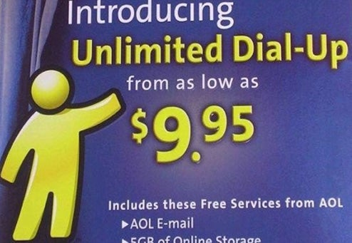 AOL Raises Dial-up Prices For Luddites