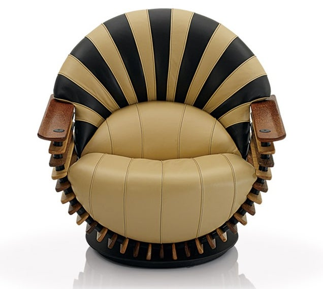 The art deco styled luxor arm chair available from pacific green