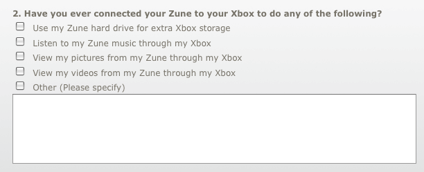 Survey Hints That Zune Could Double as Extra Storage For the Xbox