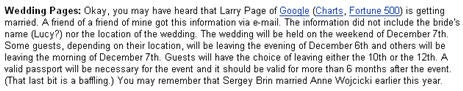 Fortune editor censors Larry and Lucy's wedding date