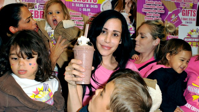Octomom Nadya Suleman Eats Like a Horse, Goes Topless