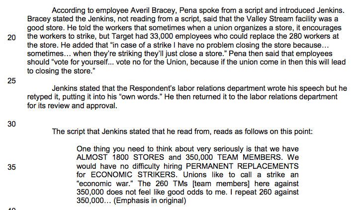 Here Are Some Highlights of Target's Illegal Anti-Union Exploits