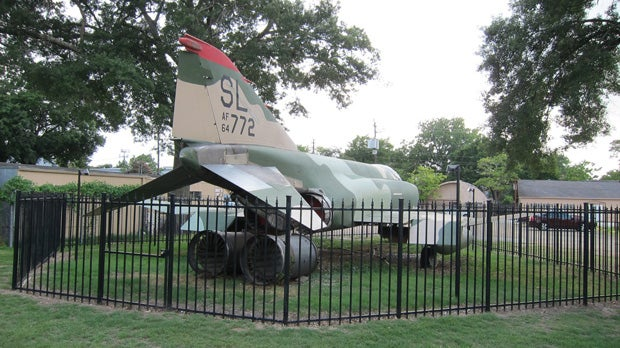 Houston's secret suburban fighter jet