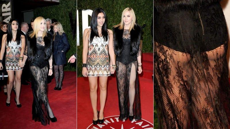 Madonna Wears Skimpy Ensemble To Party, Lourdes Doesn't Flinch