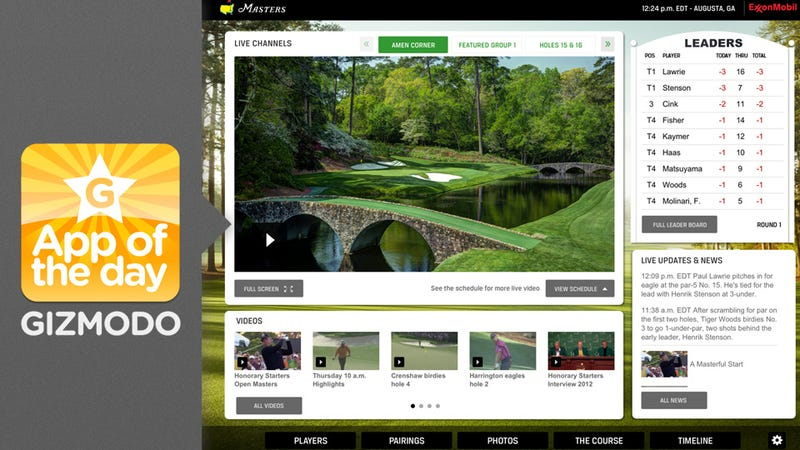 Official Masters App: Enjoy Augusta From Your iPad