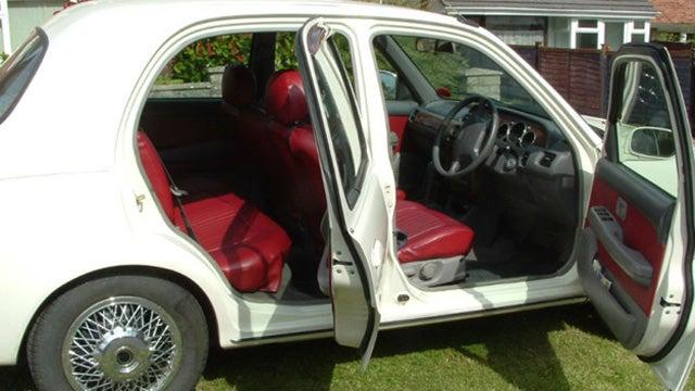 Miniature Nissan modified to look like vintage Jaguar on Ebay