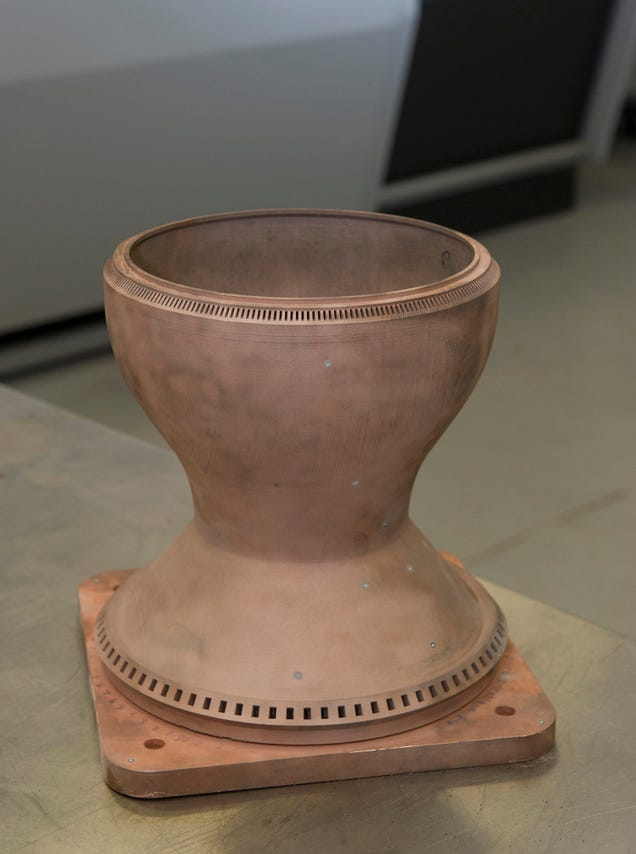 This Is NASA's First 3D-Printed Full-Scale Copper Rocket Engine Part