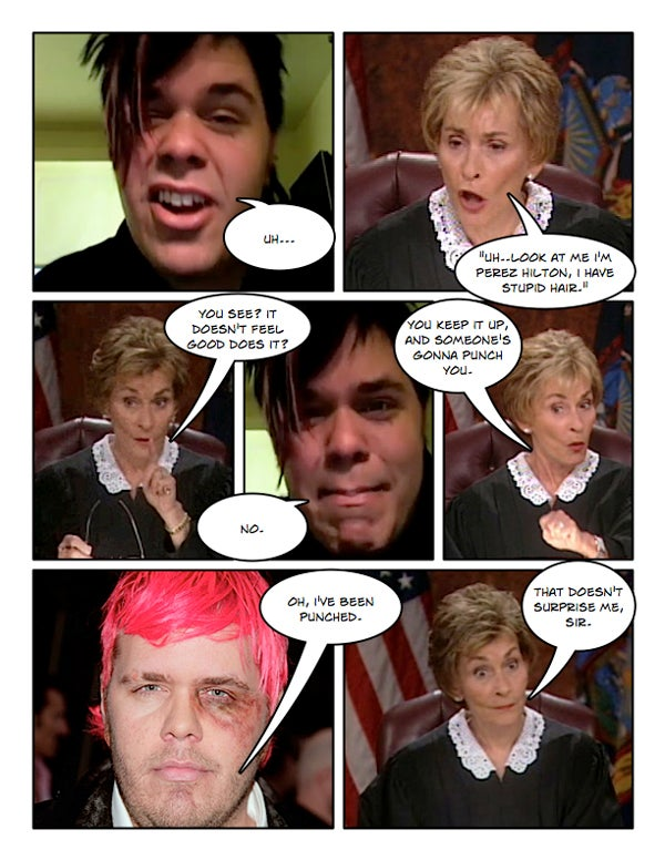 Comic Confrontations: Judge Judy Vs. Perez Hilton