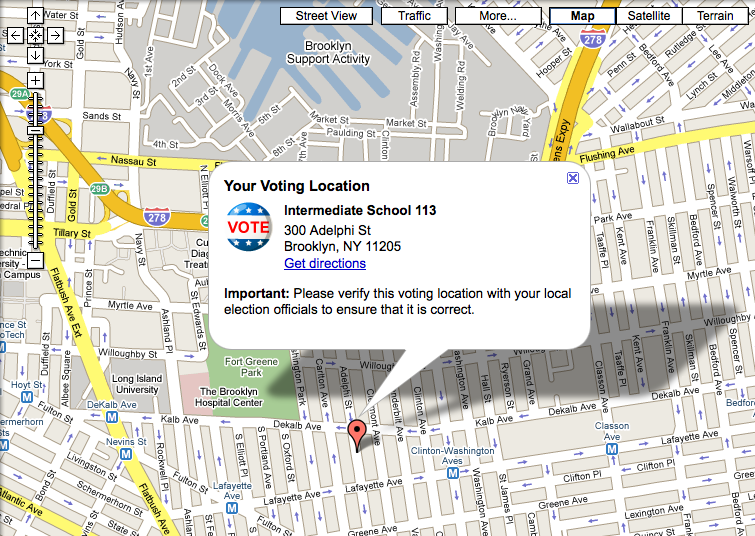 Easily Find Your Polling Place Via Google Maps