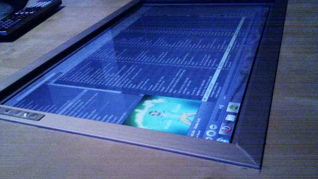 Control Your Media From Afar with a DIY, Built-In Coffee Table Touch Screen