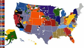 NFL fans by U.S. county, according to Facebook