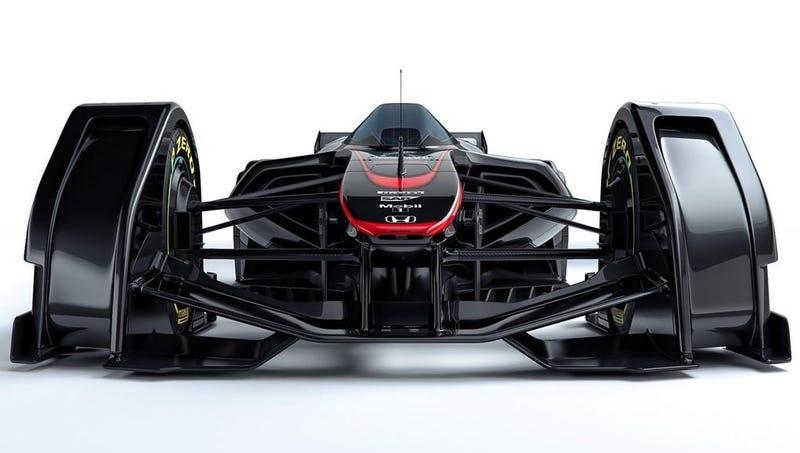 McLaren MP4-X, un concepto de Fórmula 1 a medio camino entre el batmóvil y un avión de caza