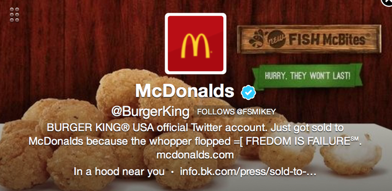 Hackers Turn Burger King's Twitter Feed into a McDonald's Ad [UPDATE]