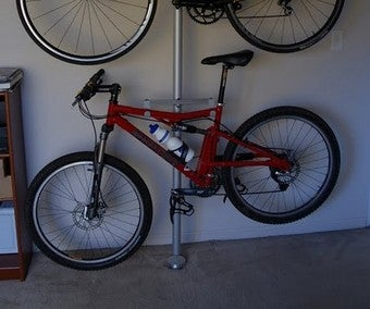Turn an IKEA Storage Pole into a Carpet-Friendly Bike Rack