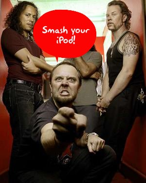 iPod Taking Some of the Blame for Problems with Metallica's 'Death Magnetic'