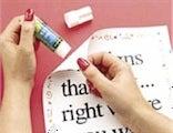 Restickable Glue Stick Makes Sticky Notes