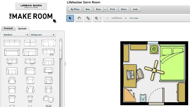 The make room planner webapp simplifies room layout design Make a room layout