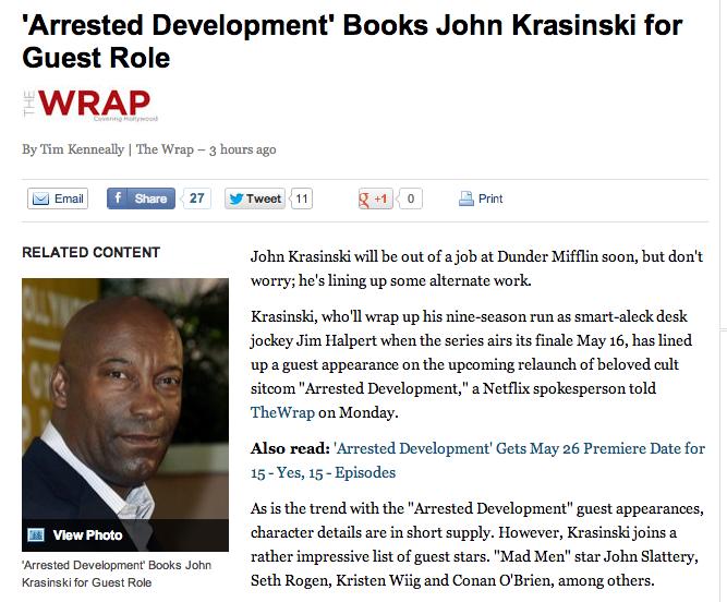 Yahoo has Trouble Telling John Krasinski and John Singleton Apart
