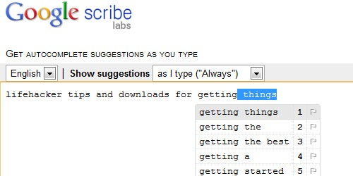 Google Scribe Auto-Completes Text Anywhere You Type on the Web