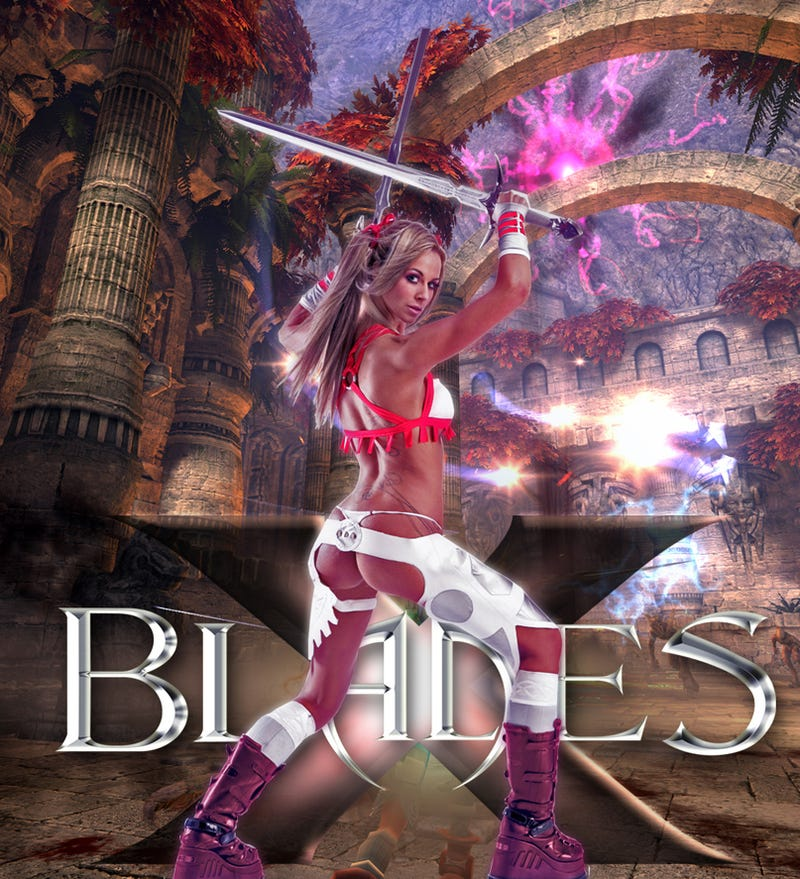 Half-Naked Woman Launches UK X-Blades