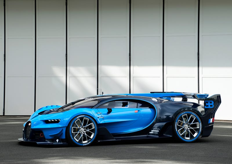 'Bugatti Vision Gran Turismo Concept: The Future Of Bugatti Looks Terrifyingly Awesome' from the web at 'http://i.kinja-img.com/gawker-media/image/upload/s--HC72Ye-7--/c_scale,fl_progressive,q_80,w_800/1430362453048961064.jpg'