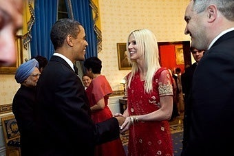 White House Party Crasher Will Auction Her Red Sari for Charity