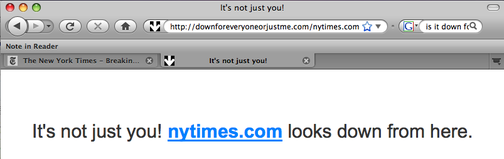 New York Times Web Site Down?