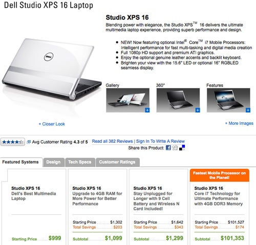 Dell Selling Core i7 Laptop for $101,353