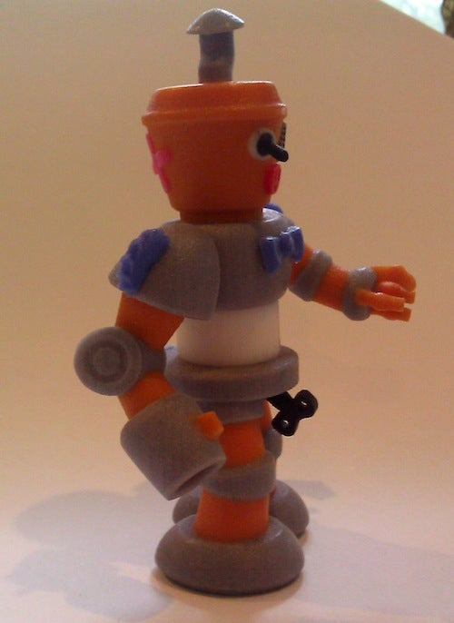 Make your own customized robot action figure