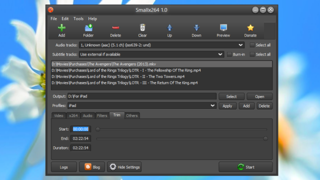 Smallx264 Transcodes Videos In Batch With Handbrake