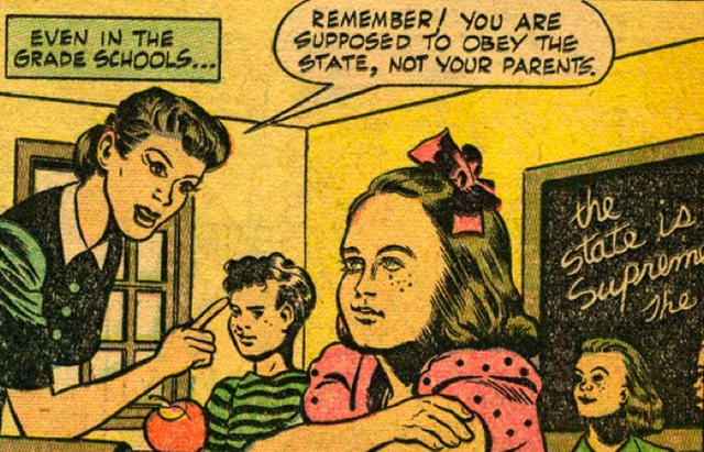 Read a famous propaganda comic about life in Soviet America