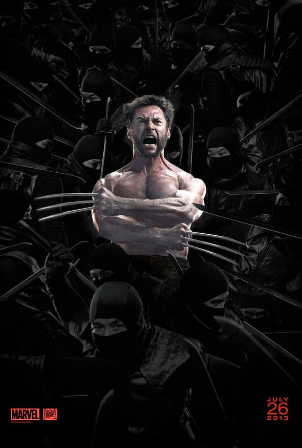 And now 6 seconds of Hugh Jackman snarling and slashing from The Wolverine trailer