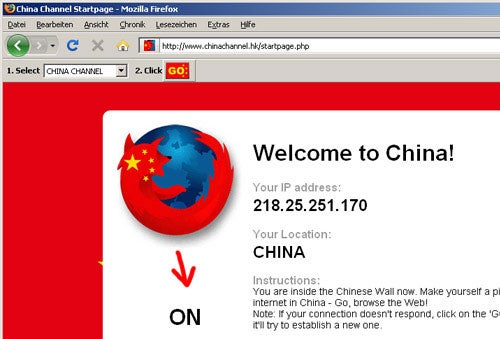 Browse a Censored Web Through the China Channel FireFox Plugin