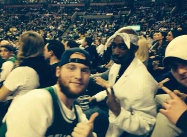 With Celtics Losing Big, Fans Cheer For Tupac Lookalike In Stands