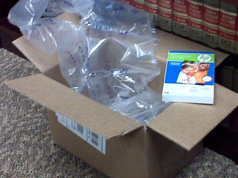 Best Buy Mails Tiny Photo Paper in Massive Box
