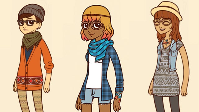 Hipster Paper Doll Is Too Cool For Actual Paper