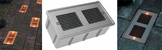 Sun Bricks: Solar Powered, LED-Embedded
