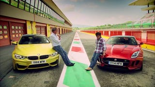 Top Gear M4 v/s F-Type?!
