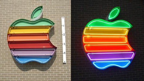 6-foot Neon Rainbow Apple Computer Logo on eBay for $4500