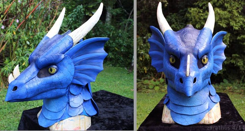 Turn Yourself Into A Dragon With These Handcrafted Masks And Gauntlets