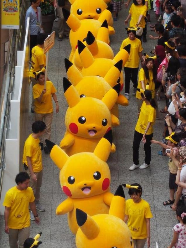 This Parade of Pikachus Looks Like a Pokemon Invasion