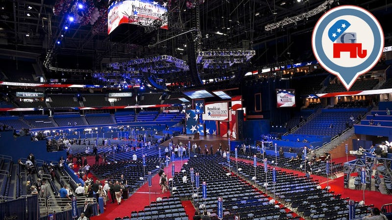 'You Can't Get There from Here': Nobody Knows Where Anything Is at the RNC