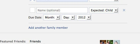 Facebook Adds 'I'm Expecting' Option