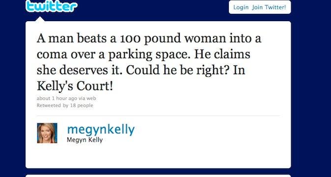 Megyn Kelly Wonders If Woman Beaten Into A Coma Deserved It