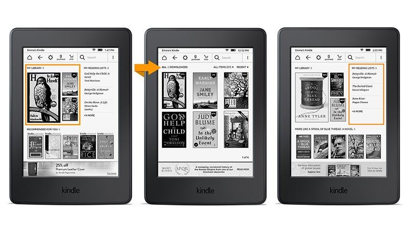 how to change the home screen on your kindle paperwhite
