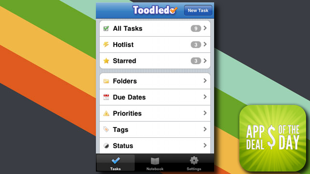 Daily App Deals: Get Toodledo for iOS at Only $1.99 in Today's App Deals