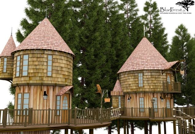 JK Rowling is building Hogwarts-style treehouses in her back yard
