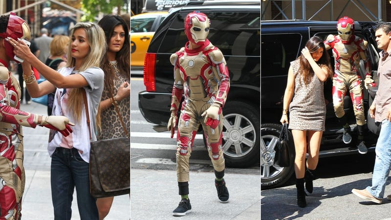 Jaden Smith Dressed as Iron Man to Take Kylie Jenner Shopping