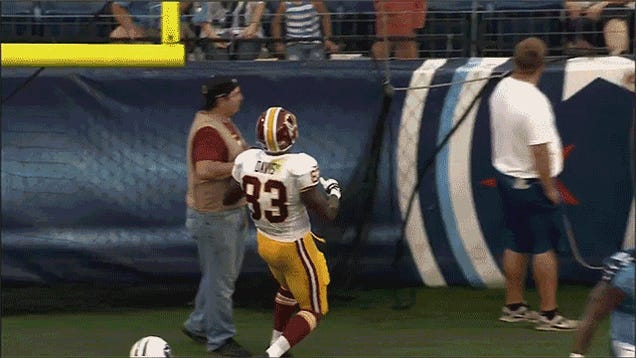The Redskins Celebrate A Touchdown Like Weirdos