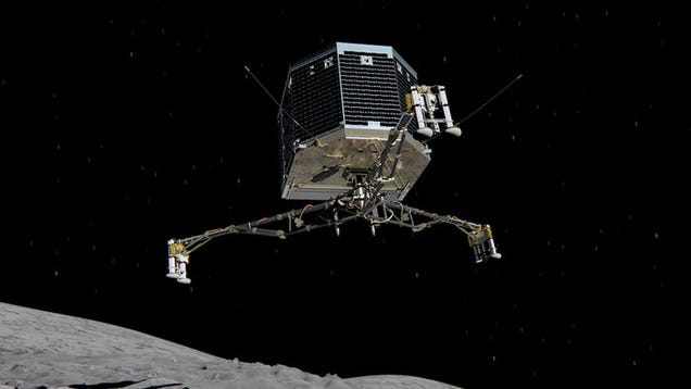 Rosetta's Lander Is Now Asleep on the Comet, Waiting For a Brighter Sun